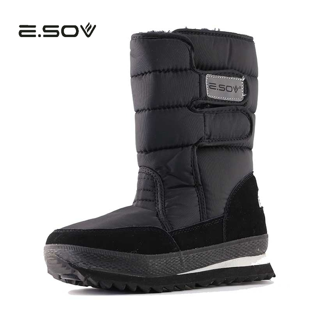 041d04298 US $30.45 39% OFF|ESOV Winter Thickening Thermal Cotton padded Shoes Boots  Women's Shoes Snow Shoes Slip resistant Waterproof Snow Boots Cotton-in ...