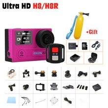 Оригинал ЭКЕН H8R H8 Спорт действий камеры VR360 Пульт Дистанционного Управления ультра 4 К/30fp Wi-Fi 2.0 «двойной ЖК-Шлем Камеры водонепроницаемый Спорта DV