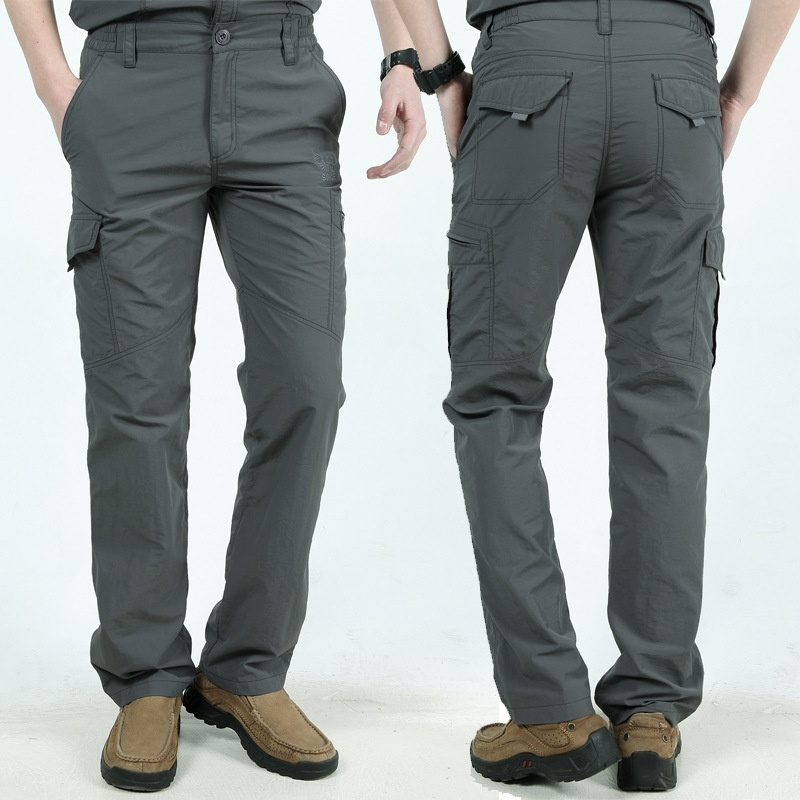 Image 5 - Military Style Tactical Pants Men's Thin Pants Cargo Work Army Breathable Waterproof Quick Dry Men Pants Casual Summer Trousers-in Casual Pants from Men's Clothing