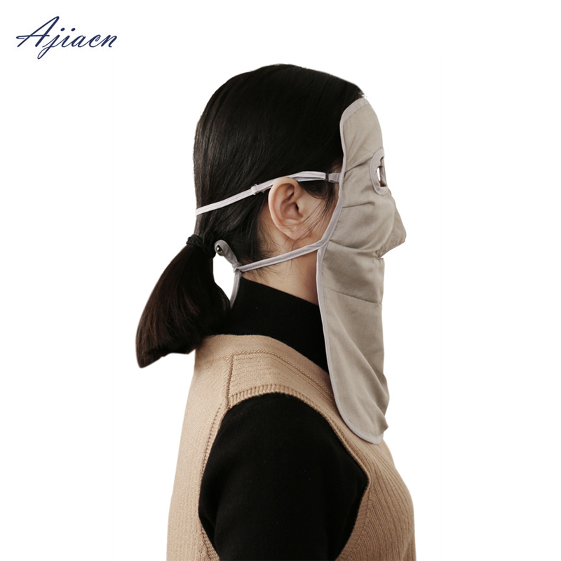 Image 2 - Ajiacn Recommend electromagnetic radiation protection mask Protect the face and protect the thyroid EMF shielding long face mask-in Masks from Security & Protection