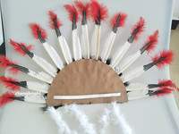 Wholesale 20pcs 16 Inches Tall Indian Headdress Indian Feathers Hood Hoodies Handmade Made Costume Decoration Carnival