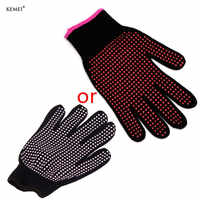 1 Pc Hair Straightener Curling Tong Hairdressing Heat Resistant Finger Gloves