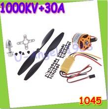 A2212 1000KV Brushless Outrunner Motor +30A ESC+1045 Propeller