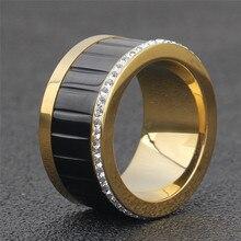 Black Rotating Spinner Ring