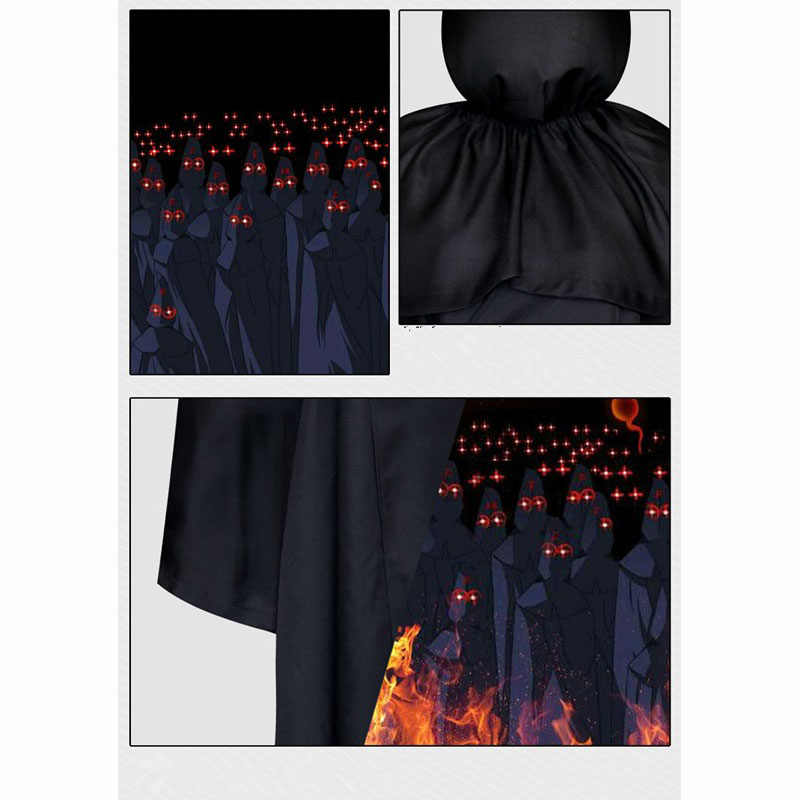 Black Halloween ชุดเครื่องแต่งกายสำหรับชายอะนิเมะ FFF Cosplay ตลก Robe Party บทบาทเล่นเกม Death เสื้อผ้า