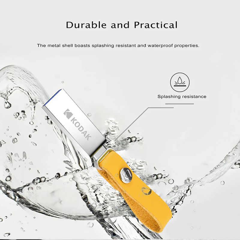 Asli Kodak Flashdisk K123 USB 3.1 Logam USB Flash Drive 16 GB 32 GB 64 GB 128 GB Flash Memori STICK USB 3.0 Pen Drive U Disk