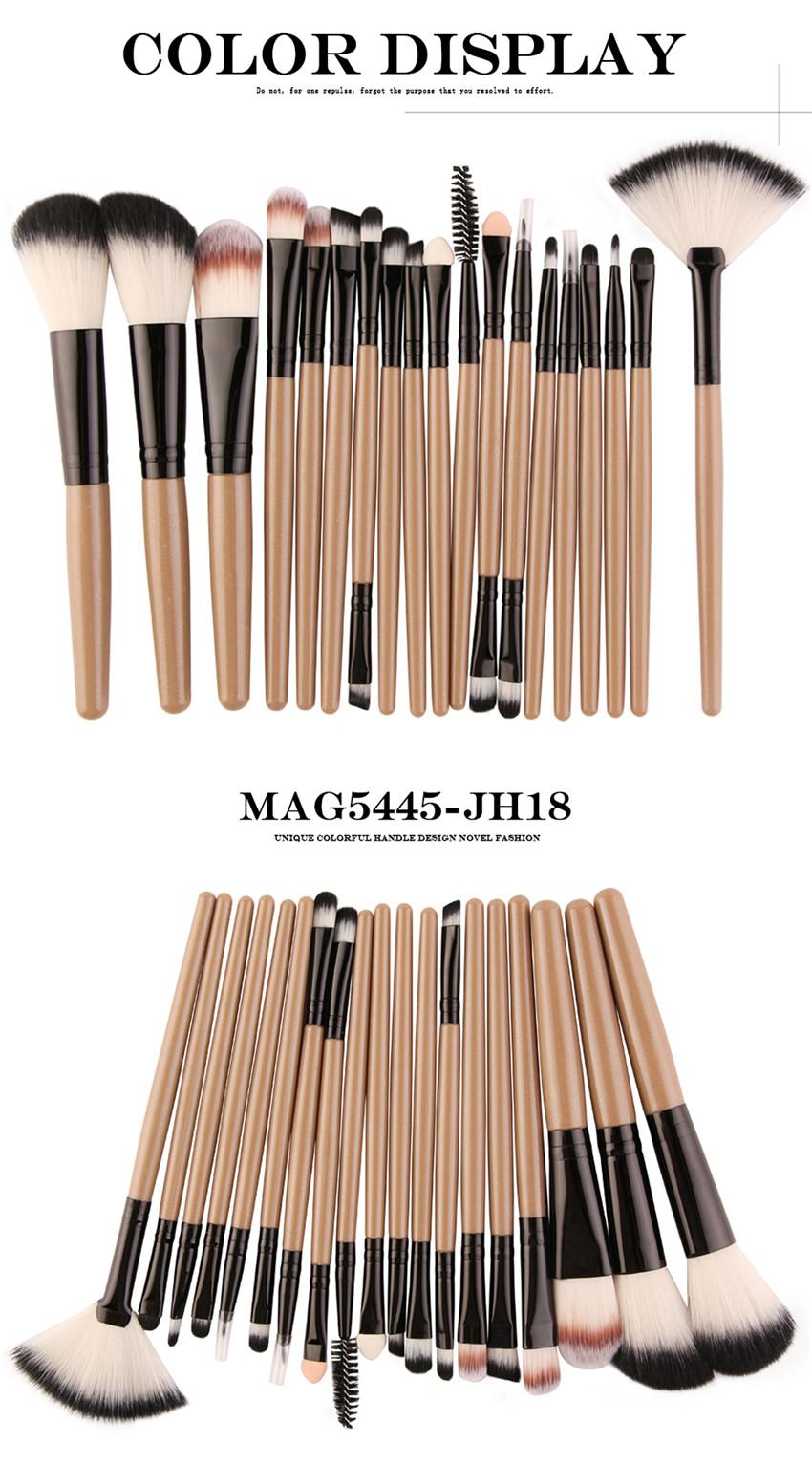 18Pcs/lot Brand Brushes Makeup Brush Set maquiagem Cosmetics Power Foundation Blush Eye Shadow Blending Fan Make Up Kits Beauty 13