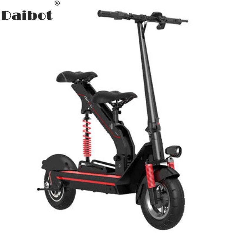 Daibot Scooter électrique Portable deux roues Scooters électriques moteur sans brosse 350W 36V adulte enfant coup de pied Scooter avec deux sièges