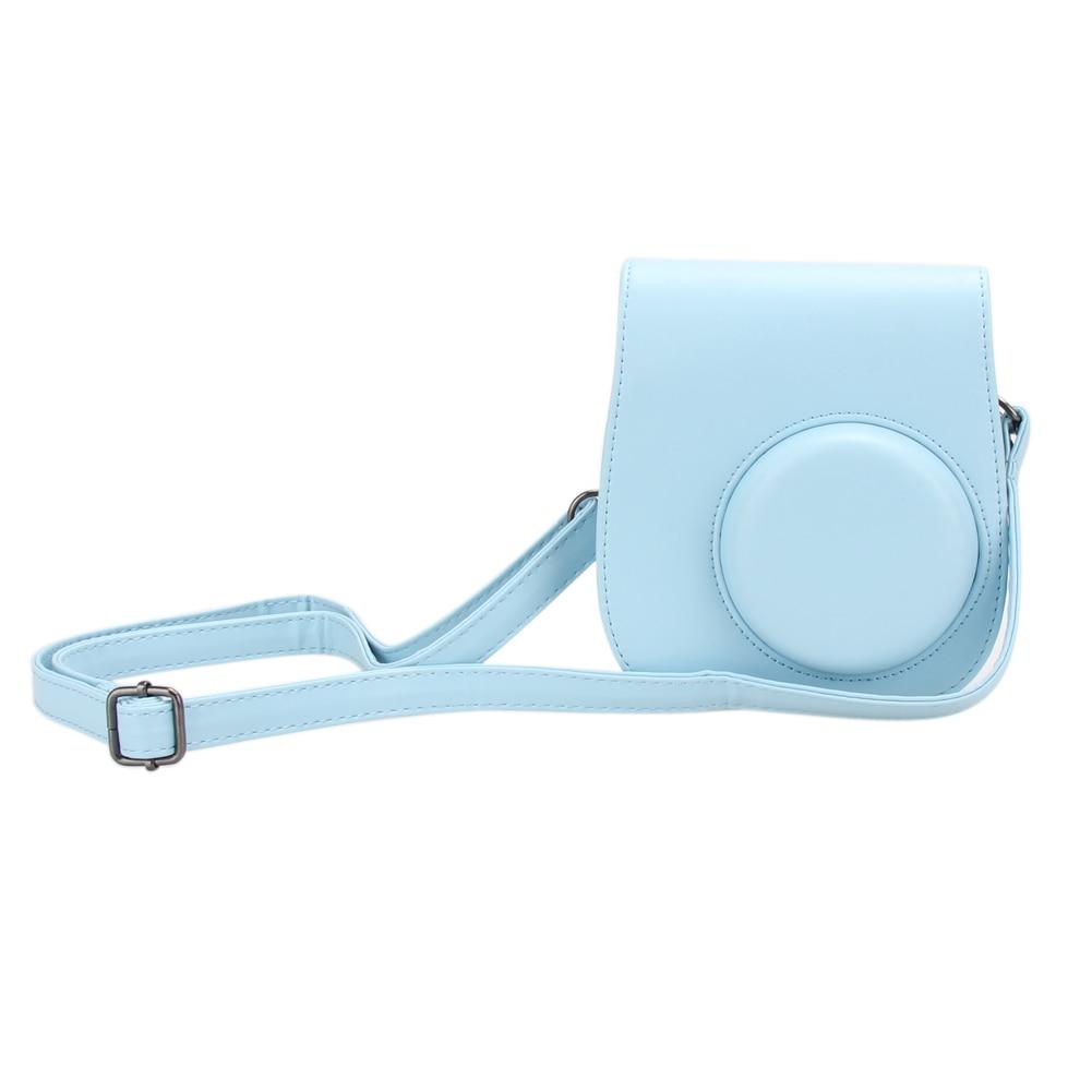 2017 Classic PU Leather Camera Strap Bag Case Cover Pouch Protector For Polaroid Photo Camera For Fuji Fujifilm Instax Mini 8  pu cf camera pu strap coffee