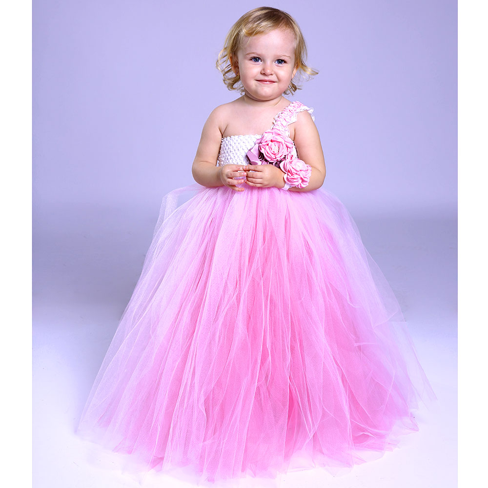 Adorable Flower Girl Wedding Party Tutu Dress Baby Girls Graduate Celebrate Photograph Tulle Tutu Dresses Winter Clothing Wear baby cartoon flower pattern dress high quality tulle tutu clothes girl christmas costume girl dresses for party and wedding 2017