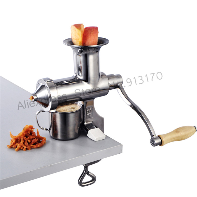 Brand New Wheat Grass Juice Extractor HIGH Juice Yield Leafy Vegetables Squeezer Juicer Hand Crank home use hand wheat grass juicer extractor cucumber tomato potato juice squeezer