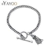 AYAYOO Trendy Zilveren Bedelarmbanden Vrouwen Keten Kwastje Mode Armband Vrouwelijke 925 Sieraden Elegante Bridal Armband
