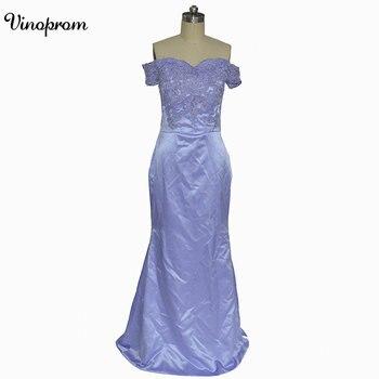 New Design Off Shoulder Long Robe de Soiree 2018 Mermaid Prom Dress Liac Formal Bridesmaid Gowns