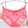Sexy lace intimates underwear para as mulheres transparentes calcinhas de nylon das mulheres graciosas calcinhas lingerie 10 cores 2088