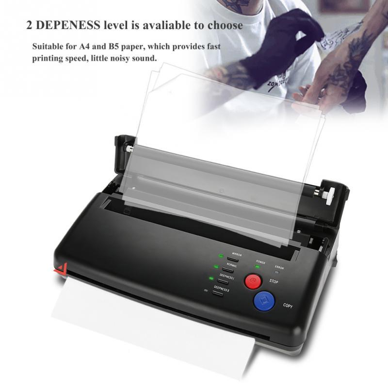 ライタータトゥートランスファーマシンプリンタ描画熱ステンシルメーカー複写機タトゥー転写紙供給 permanet メイク  グループ上の 美容 & 健康 からの タトゥーステンシル の中 3