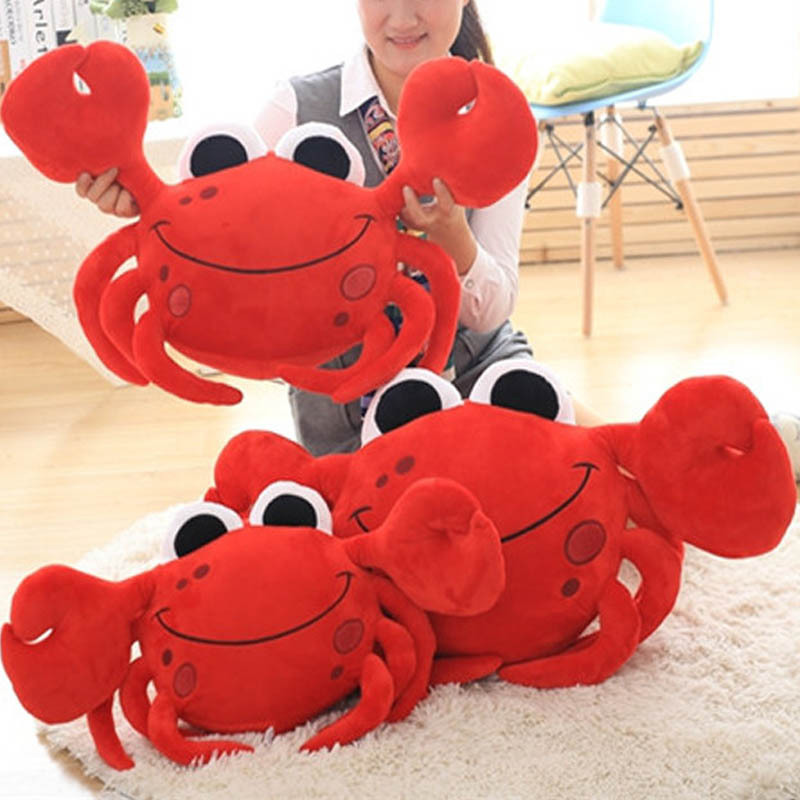 55cm Simulation Crab plush Soft Stuffed Cushion Animal Toys Dolls Birthday Gifts stuffed animal 44 cm plush standing cow toy simulation dairy cattle doll great gift w501