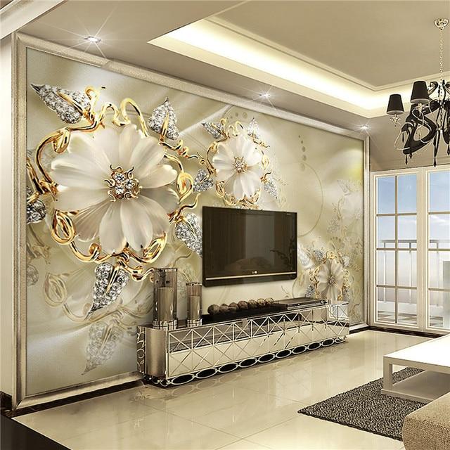 Wall Panel Wallpaper Marble Diamond Jewelry Rose Background Modern ...