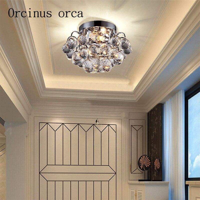 € 113.09 |Couloir de luxe minimaliste moderne, hall d\'entrée, plafonnier en  cristal, chambre à coucher, balcon, couloir, escaliers, lumière ...