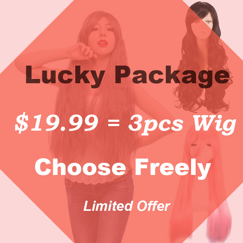ROLECOS LUCKY PACKAGE Wig Big Sale Big Discount Collocation Freely Long Wigs Anime Cosplay Headwear Game Cosplay Women Hair