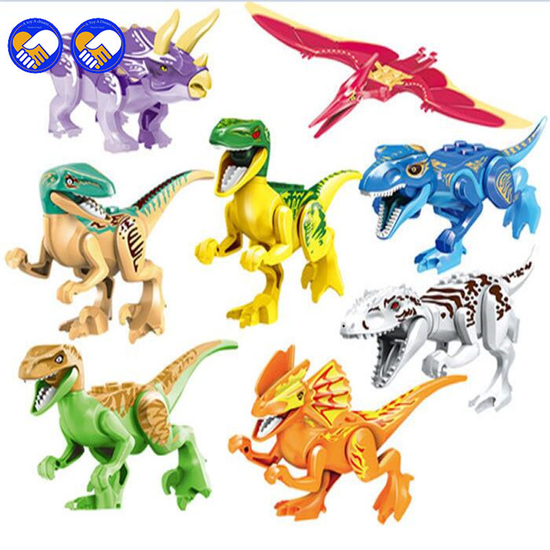 A toy A dream 77021 8pcs Sets Model Dino World Dinosaur Bricks Building Blocks Super Heroes Action Bricks Toys Legoingly a toy a dream lepin 15008 2462pcs city street creator green grocer model building kits blocks bricks compatible 10185