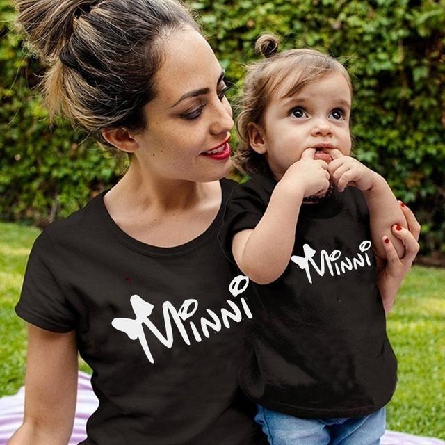 puppe familie passenden kleidung T shirt Frauen sohn tochter mama T shirt tops kinder baby mädchen jungen casual T hemd