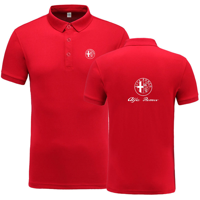 New Summer Short-sleeve   Polo   Homme High Quality Cotton Fashion Alfa Romeo logo Print   Polo   Shirt Casual Business Camisa   Polo
