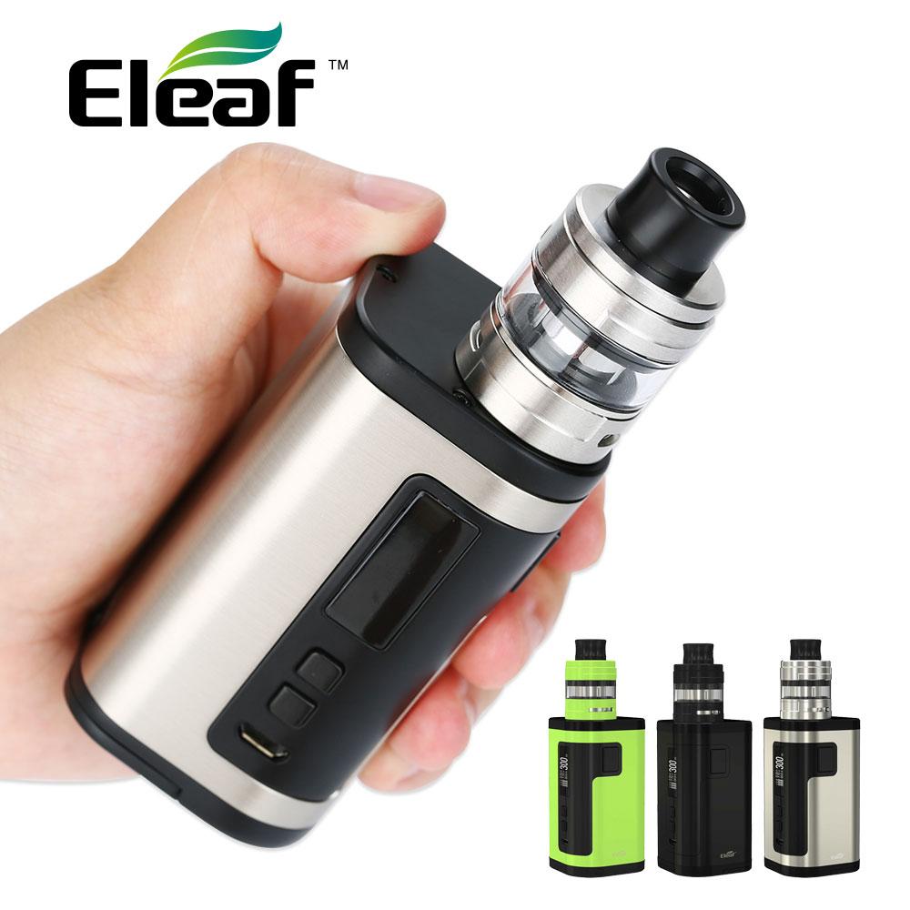 Original 300 W Eleaf IStick Tria Kit con 2 ml Ello S tanque extensible 4 ml y salida máxima de 18650 W No Triple 300 batería e-cig Kit