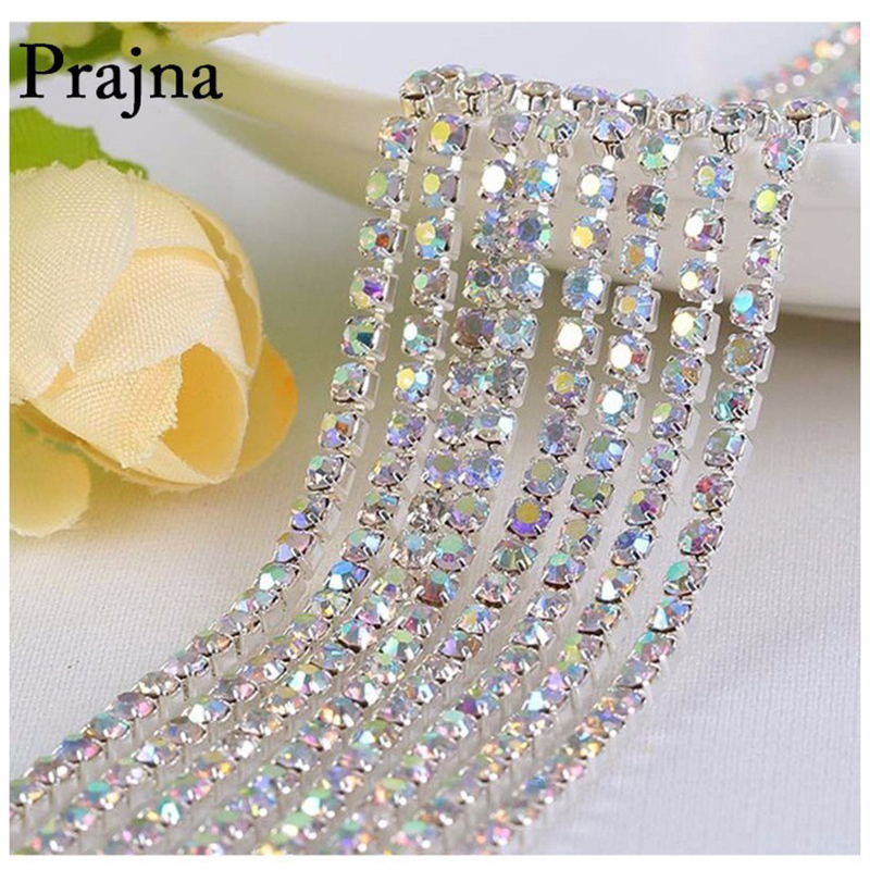 Beauty Accessories Base Cup Silver Crystal Chain Sewing Rhinestone DIY Crafts