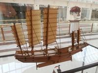 Model tekne Ahşap çin yelkenli tekne büyük önemsiz gemi modeli paulownia kurulu kitleri ücretsiz kargo