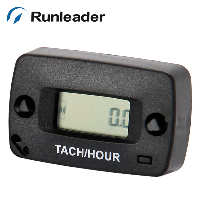 Resettable Digital Inductive tachometer Hour Meter for motocross ATV Jet ski marine generators pit bike