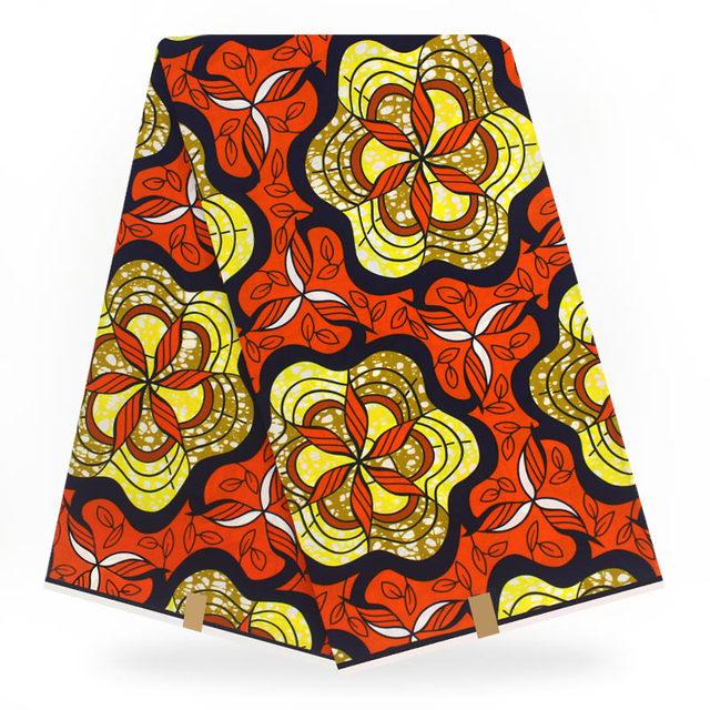 African Real Dutch Super Wax Hollandais Prints Fabric 6 Yards