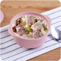 Double Using Bowls PP Food-grade Rice Dish Salad Bowl Baby Girl Family Daily Home Necessity Four Colors Home&Living