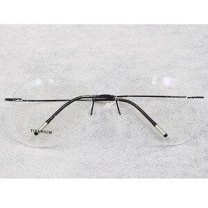 Image 2 - BCLEAR טיטניום ללא שפה אופנה מעצב משקפיים אופטי משקפיים מסגרת גברים ונשים Eyewear קל משקל גמיש מחזה