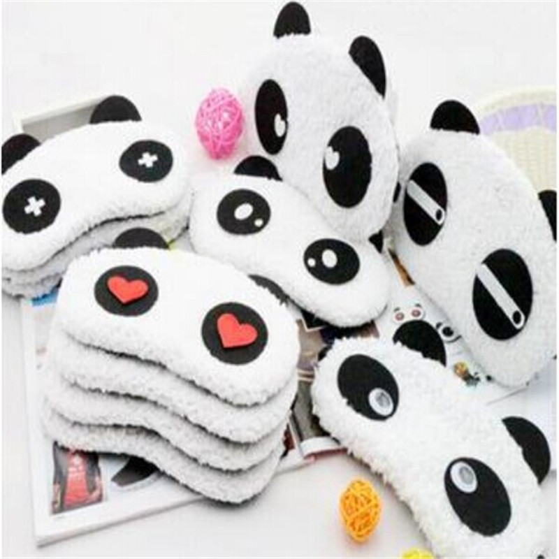 1pcs lovely Panda Sleeping Eye Mask Nap Eye Shade Cartoon Blindfold Sleep Eyes Cover Sleeping Travel Rest Patch Blinder