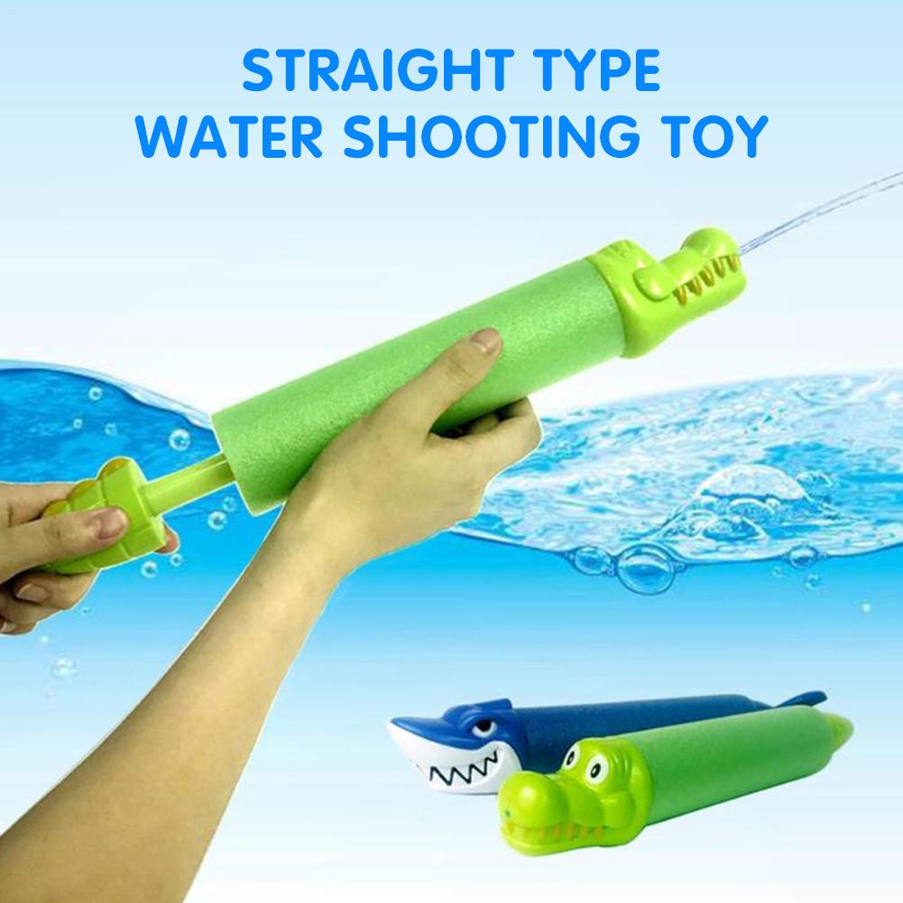 Summer Toy Beach Cool Water Gun Pull Out Crocodile / Shark Animal Head Play Water Toy Water Pool Party Children Toy