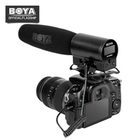BOYA BY DMR7 Condenser Microphone with LCD Display Broadcast Quality w/ Integrated Flash Recorder for Canon Nikon DSLR Cameras
