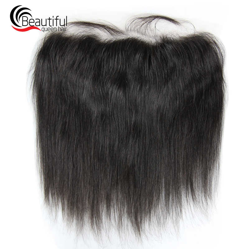 10A Brazilian Human Hair Lace 13X4 HD Thin Lace Frontal Straight Free Part Natural Color 130% Density Pre Plucked Virgin Hair