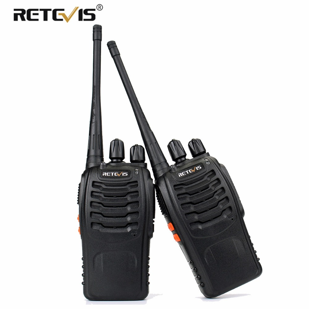 2 stk Retevis H777 Handy Walkie Talkie Håndholdt Transceiver UHF 400-470MHz Frekvens Bærbar To-vejs Radio Station Communicator