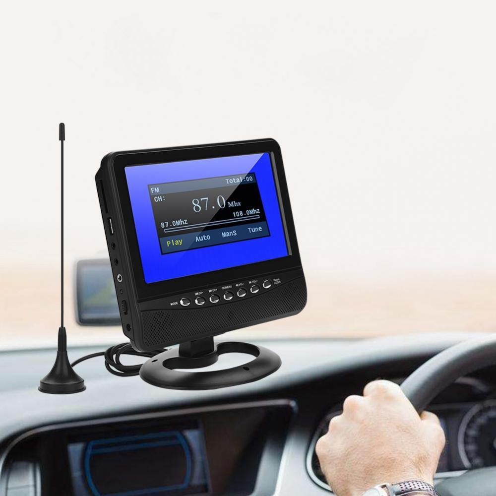 7 HD Car Analog Televison Portable TFT LCD Analog TV Support FM Radio SD Card USB ATV for MP3/MP4/JPEG/DIVX/AVI/MPG/VOB US Plug цифровая фоторамка others 7 tft lcd mp3 0g242b