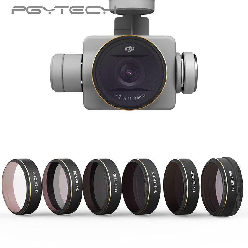 PGYTECH Phantom 4 Pro Lens Filters UV ND4 8 16 32 64 CPL UV Gradual HD Filter for DJI Phantom 4 Pro Gimbal Accessories