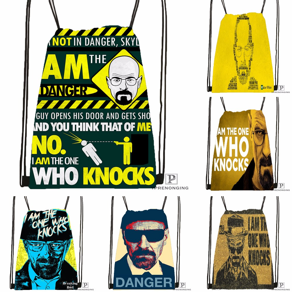 Custom Breaking Bad Drawstring Backpack Bag For Man Woman Cute Daypack Kids Satchel (Black Back) 31x40cm#180531-01-20