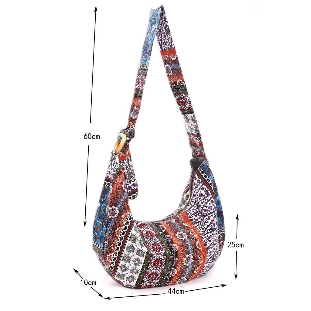b79d03f750d6 OCARDIAN Shoulder Bag Tote Bag Canvas Floral Folk Custom Women Cloth ...
