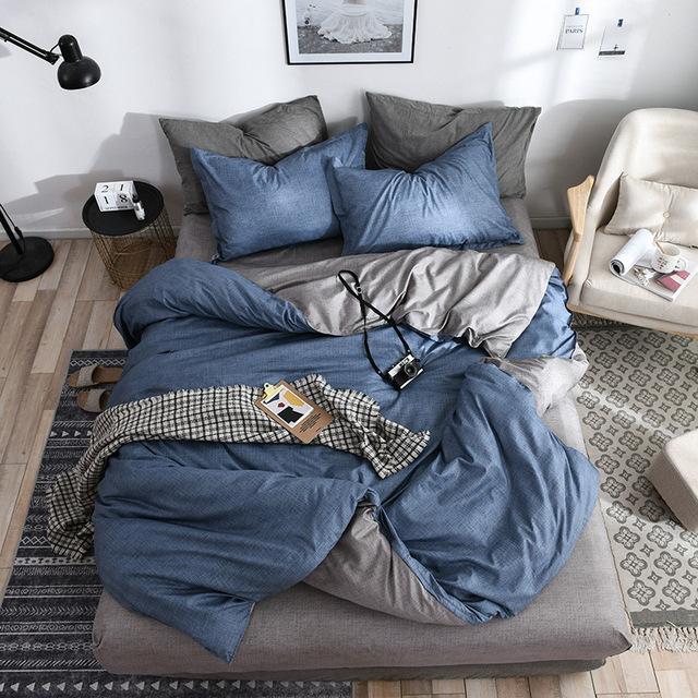Solid Modern Bedding Set