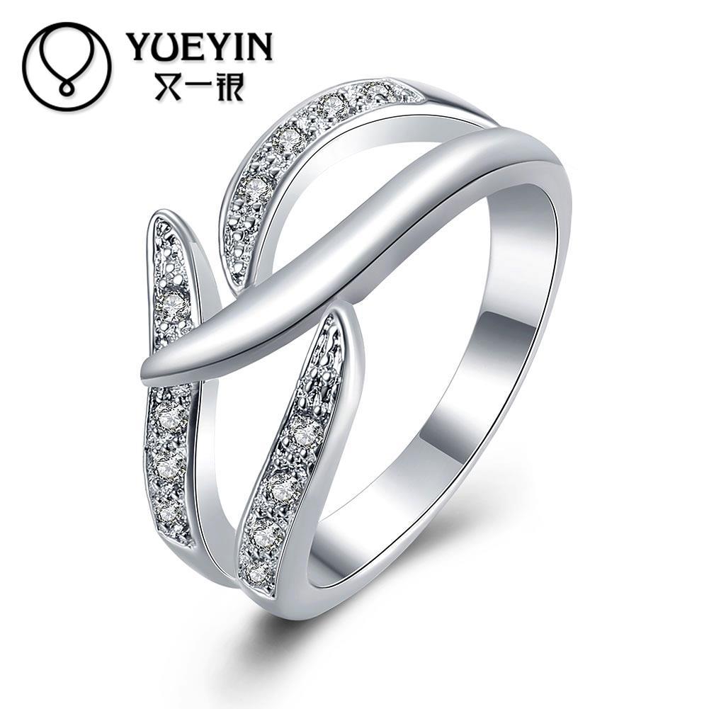 Женские кольца с серебряным покрытием, женские классические кольца для помолвки, не линяют, оригинальный дизайн