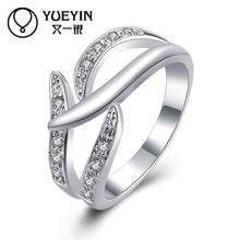 Female jewelry silver plated wedding rings Engagement jewelry bague femme Classic Never fade Original designs ladies rings(China)