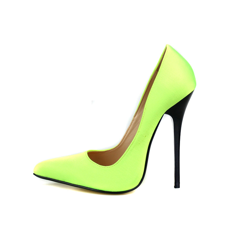 Plus Size 40-49 Women Shoes Zapatos Mujer 13cm High Heels Sexy Lady Pumps Silk Pointed Elegant Women Basic Wedding Pumps size 4 9 summer black women shoes elegant white flower high heels shoes cross women pumps zapatos mujer check foot length