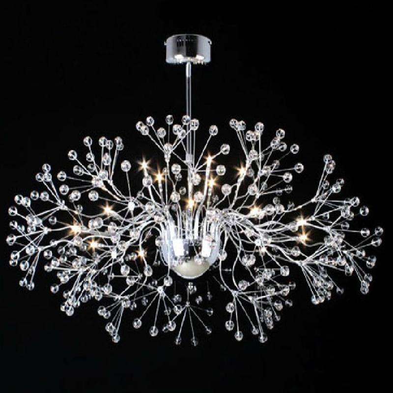 Modern Art deco crystal pendant lights with 20W G4 bulbs 1.5W LED bulb included High quality K9 crystal ball chromed lamps