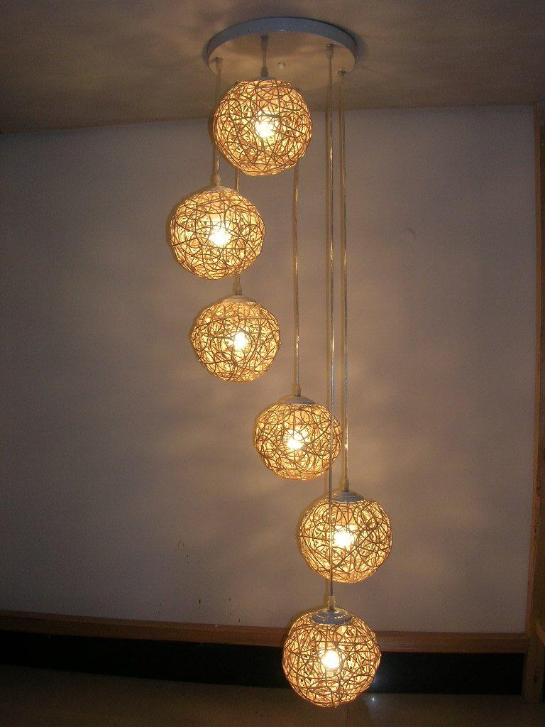 Pendant Lighting Living Room Aliexpresscom Buy Handmade Spiral Rattan Hand Knitted Pendant