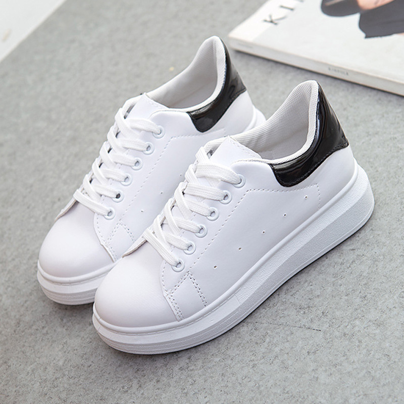 Fashion Women Vulcanize Shoes 2019 Canvas Shoes New Women Shoes White Chunky Sneakers Slip-on Platform Female Shoes Women FlatsFashion Women Vulcanize Shoes 2019 Canvas Shoes New Women Shoes White Chunky Sneakers Slip-on Platform Female Shoes Women Flats