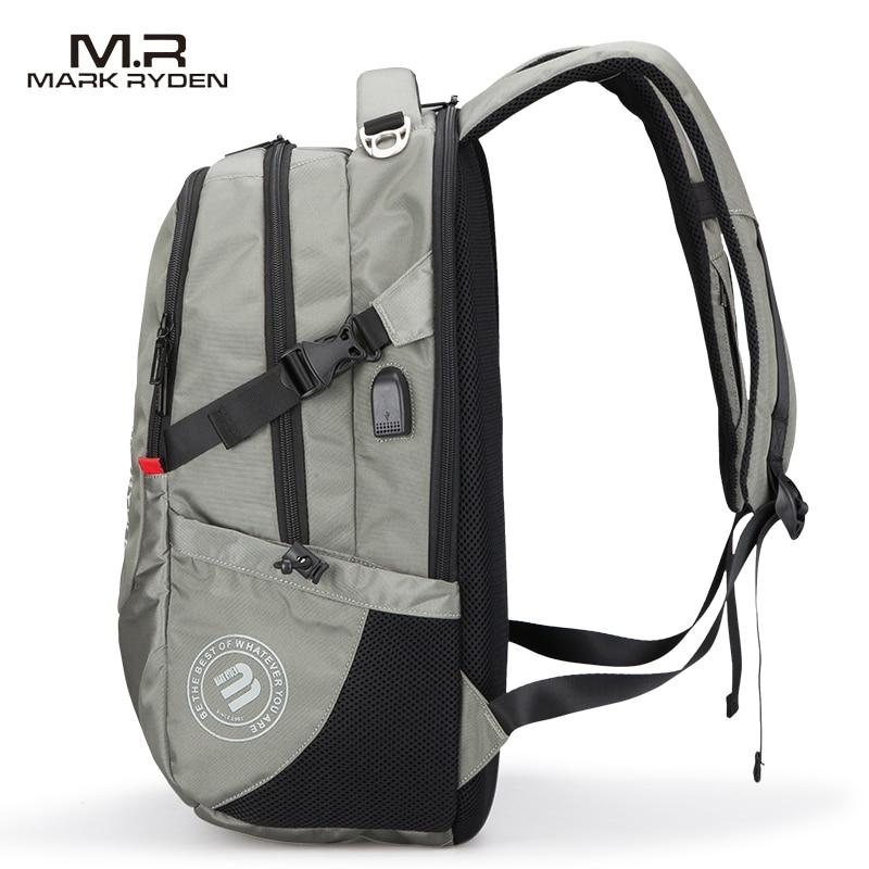 Multifunction USB Charging Men 15inch Laptop Backpacks Men's Bag 3